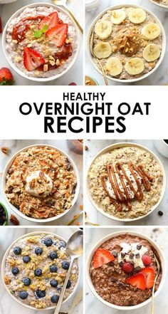 up classic oatmeal with one of these delicious and healthy overnight oat r., Spice up classic oatmeal with one of these delicious and healthy overnight oat r., Spice up classic oatmeal with one of these delicious and healthy overnight oat r. Healthy Snacks, Healthy Eating, Healthy Recipes, Diet Recipes, Heart Healthy Meals, Smoothie Recipes, Peeps Recipes, Dessert Healthy, Clean Eating Diet