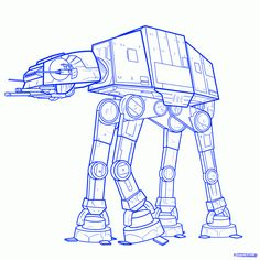 how to draw an imperial walker, imperial walker step 9