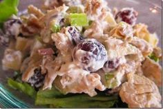 Waldorf Chicken Salad Recipes is One Of Favorite Salad Recipes Of Numerous Persons Across the World. Besides Simple to Create and Good Taste, This Waldorf Chicken Salad Recipes Also Health Indeed. Waldorf Chicken Salad, Chicken Curry Salad, Chicken Salad Recipes, Waldorf Salad, Chicken Meals, Super Healthy Recipes, Paleo Recipes, Real Food Recipes, Cooking Recipes