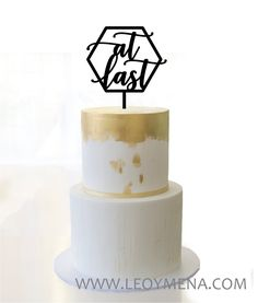 Geometric wedding cake topper at last hexagon rustic cake topper wood Custom Names Cake Topper gold Personalized cake Unique Mr and Mrs Wedding Cake Toppers, Wedding Cakes, Hexagon Wedding Cake, Baltic Birch Plywood, Geometric Wedding, Looking Gorgeous, Special Day, Boho Chic, Place Card Holders