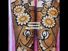 Jasmine Mehendi - YouTube Khafif Mehndi Design, Mehndi Designs 2018, Mehndi Designs Book, Mehndi Design Pictures, Wedding Mehndi Designs, Dulhan Mehndi Designs, Mehndi Designs For Hands, Mehandi Designs, Henna Mehndi
