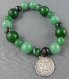 Guidence Aventurine zoisite with ruby by RainbowCatParty on Etsy, $15.99
