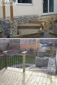 gabion wall around patio stepes http://www.gabion1.co.uk