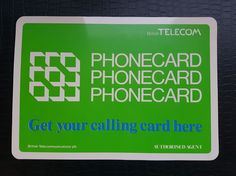 Get your calling card here - Authorised Agent
