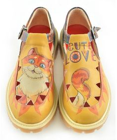 Orange Cat Mary Jane #zulily #zulilyfinds