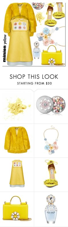 """Faux Fur Minion Yellow"" by noralyn ❤ liked on Polyvore featuring Guerlain, Mixit, Delpozo, Steve Madden, Dolce&Gabbana, Marc Jacobs, women's clothing, women, female and woman"