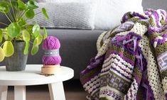 Haak- en breipakketten - Granny's Hobbys Friendship Bracelets, Blanket, Purple, Hobbies, Blankets, Cover, Comforters, Viola, Friend Bracelets