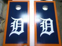 Custom Tigers cornhole boards. Be ready for the tailgate parties. Motorcitycornhole.com
