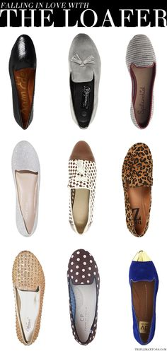 1. Sam Edelman Alvin Loafer 2. Timeless Macey Leather Loafer 3. Splendid Cannes Loafers 4. Nine West Panto Loafers 5. ASOS Margot Loafer with Weave and Tassel Detail 6. Type Z Adabella Loafer 7. Wanted Studded Granite Loafer 8. Charles Philip Shanghai Loafer 9. DV by Dolce Vita Lunna Loafer