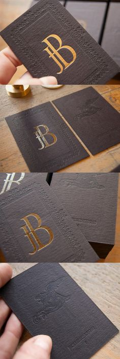 Vintage Styled Gold Foil And Letterpress Business Card For A Photographer [repined by www.kickresume.com]