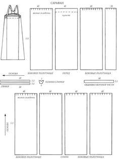 Sarafan sewing pattern. North Russia, Simbirsk. Very interesting blog. http://folkcostume.blogspot.co.uk/ FolkCostume: The 5 types of Russian folk Costume