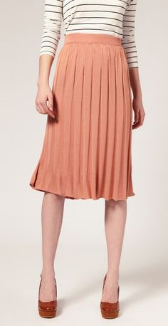 ASOS | Midi Pleated Knitted Skirt