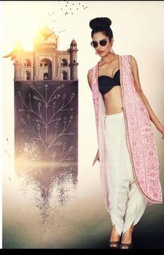 Sonali Gupta , dhoti pant , corset , jacket , party , cocktail , pink , black , grey , dabka embroidery, embroidery , unconventional