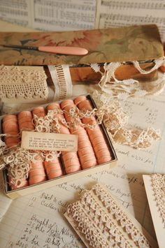 Faith, Grace, and Crafts: Pearls and Lace Thursday #104 Aged Pinks, Peach, or Salmon?