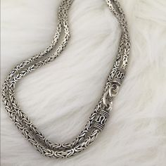 Sterling silver chain This chain is straight from Indonesia. Beautiful unique design (24 inches long)  Accessories Jewelry