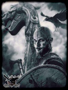 Vikings series Ragnar by thecasperart on DeviantArt