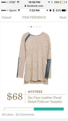 Loving this mixed sweater Sam!!