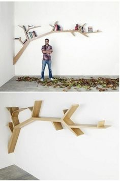 Imagine this beautiful shelf with pictures at the end of each branch like the leaves.