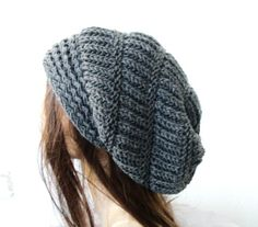 Hand Knit Hat Womens hat  Winter  hat   chunky knit by Ebruk, $38.00