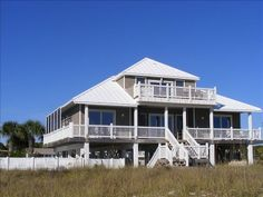 Prime Time facing the beach. Beachfront rental home with top floor master suite