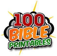 Bible Printables for Home School, Sunday School, & Children's Church — Teach Sunday School