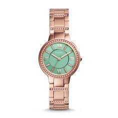 Love this watch! Fossil Virginia Three-Hand Stainless Steel Watch - Rose, $80US, reg115.  Bay $125 - http://www.thebay.com/webapp/wcs/stores/servlet/en/thebay/jewellery-accessories/womens-watches/womens-virginia-petite-3hand-es3652-0033-es3652--24
