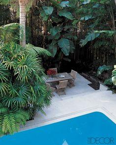 terrace beside the pool