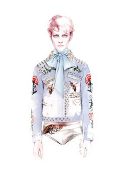 GUCCI Spring Summer 2016 fashion illustration by António Soares
