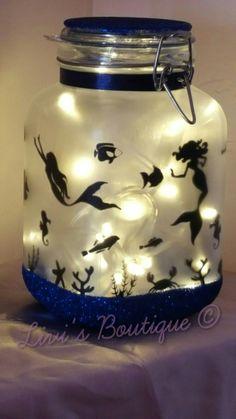 Mermaid in a jar mood/night light available on our Facebook or etsy  https://m.facebook.com/Livis-Boutique-Crafts-568979909924813/  https://www.etsy.com/uk/shop/LivisboutiqueCrafts?ref=hdr_shop_menu