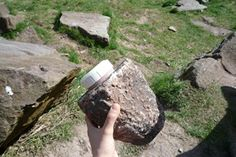 Unique container of geocaching - in a rock!