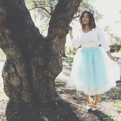 Fairytale // Tulle Skirt // Flower Crown // Whimsical photo shoot: http://www.jaaackjack.com/2015/02/living-in-fairytale-dream.html