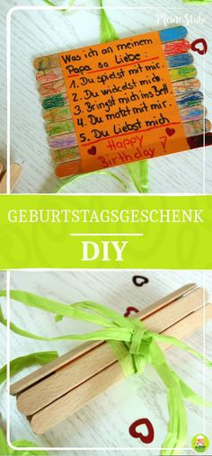 Geburtstagsgeschenk basteln mit Kids – Happy Birthday Papa – MeineStube Idea for a homemade birthday gift for dad. Also ideal as a paternity gift, mother's day gift or other occasions such as Christmas or Easter. Simply a great craft idea. Presents For Men, Gifts For Dad, Homemade Birthday Presents, Xmas Gifts, Diy Gifts, Papa Tag, Happy Birthday Papa, Blog Bebe, Ideias Diy