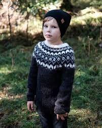 boys kids icelandic sweater, photo from Lene Berge, lopi knitting pattern, fuzzy fluffy childs childrens lopapeysa nordic Icelandic Sweaters, Fluffy Sweater, Boys Sweaters, Knitting For Kids, Sweater Outfits, Kids Boys, Knitwear, Knitting Patterns, Crochet Hats
