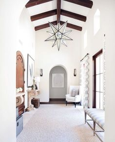 The entry I want that leads to master to side and main living spaces straight via It's A Grandville Life : Modern Farmhouse Design