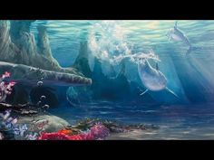 How to Paint Under Water Scenes | Learn with Mural Joe
