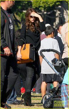 Victoria Beckham bag w Louboutin booties