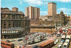 Puente del Arenal y Teatro Arriaga, 1974.