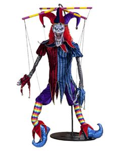 This is a creepy jester clown i saw when i was 12 at the halloween store! Halloween Circus, Halloween Wishes, Halloween Doll, Halloween Ghosts, Halloween Party, Halloween Costumes, Evil Jester Halloween, Halloween Ideas, Halloween Zombie