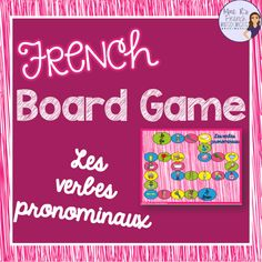 French games for Core and Immersion | Mme R's French Resources Verb Games, Fun Games, French Worksheets, Health Words, Core French, French Grammar, French Classroom, French Resources, Teaching French