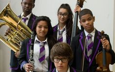 An inner-city comprehensive has turned its fortunes around by specialising in   orchestral music