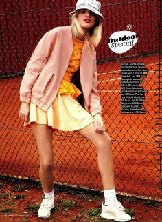 Ponte Sleeveless Skater Dress in Couch Magazine, Germany. #AmericanApparel