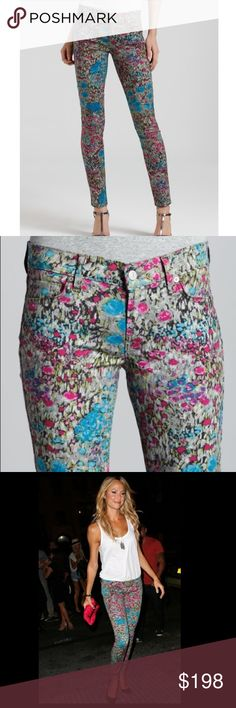 7 for all Mankind Garden Party Floral Second Skin 7 for all Mankind Garden Party Floral Second Skin Skinny Jeans   Great Condition   Size 27  I really like the print on these jeans! These jeans features smaller flowers in jewel tone colors. The print is very abstract and colorful, and has a good mix of bright blue and pinks, but also more subtle greens. Versatile and look good with black or a bolder color like pink. They are a 98% cotton 2% spandex blend, so they are very stretchy and…