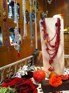 Yiousouri Thessaloniki, Fabric Jewelry, Jewelry Shop, Greece, Diy, Greece Country, Jewlery, Jewellery, Bricolage
