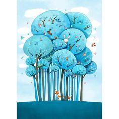 Kai Fine Art is an art website, shows painting and illustration works all over the world. Art And Illustration, Childrens Book Illustration, Illustration Inspiration, Inspiration Art, Woodland Illustration, Child Draw, Art Fantaisiste, Art Mignon, Art Design