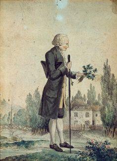 Jean-Jacques Rousseau herborisant. RMN
