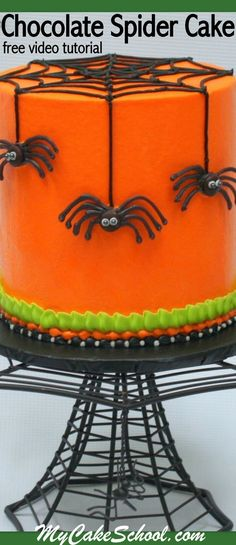 Halloween Cake Video Tutorial by ! Adorable Halloween Free Cake Video Tutorial by ! Online Cake Decorating Classes, Videos, and Recipes!Adorable Halloween Free Cake Video Tutorial by ! Online Cake Decorating Classes, Videos, and Recipes! Halloween Desserts, Halloween Cupcakes, Halloween Torte, Pasteles Halloween, Bolo Halloween, Halloween Spider, Halloween Treats, Halloween Fun, Halloween Parties