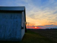 Sunset By The Barn Wall Photograph