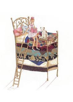 Prinzessin und die Erbse A4 Archival Kunstdruck von emmablock