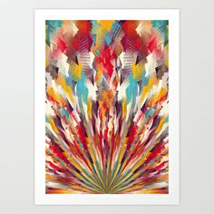 Colorful Explosion Art Print by Danny Ivan - $18.00