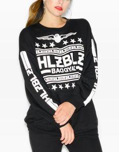 HLZBLZ Women Number Bad Short Sleeve Shirt black